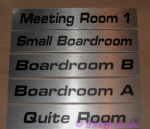 Bespoke Door Nameplate | Brushed Aluminium Room Sign